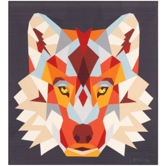 The Wolf Abstractions quilt (Le Loup) - Modèle de patchwork