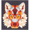 The Wolf Abstractions quilt (Le Loup) - Couture sur papier