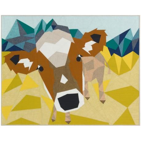 The Cow Abstractions quilt (La Vache) - Modèle de patchwork