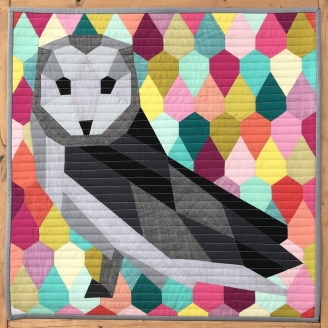 The Barn Owl Abstractions quilt (La Chouette) - Modèle de patchwork