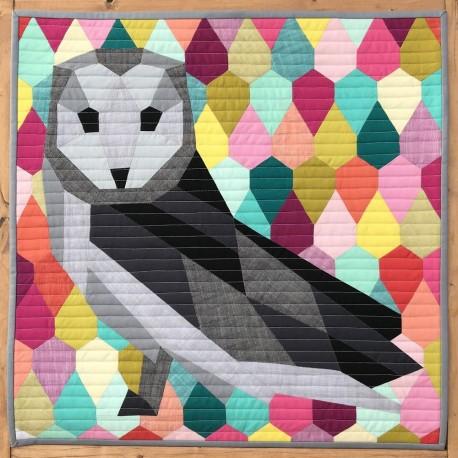 The Barn Owl Abstractions quilt (La Chouette) - Modèle de patchwork