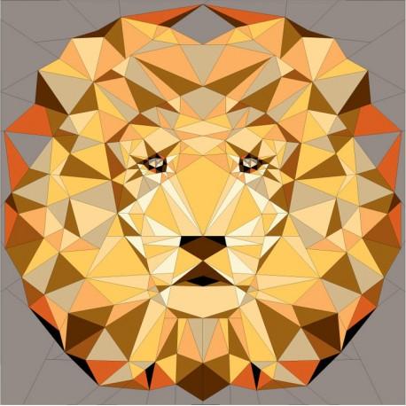 The Jungle Abstractions quilt : the lion (Le Lion) - Modèle de patchwork