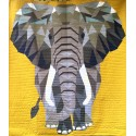 The Elephant Abstractions quilt (l'Eléphant) - Modèle de patchwork