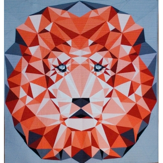The Jungle Abstractions quilt : the lion (Le Lion) - Modèle de patchwork