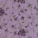Tissu patchwork violettes fond violet - Sweet violet de Jan Patek