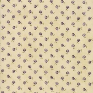 Tissu patchwork petites fleurs violettes fond écru - Sweet violet de Jan Patek