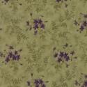 Tissu patchwork violettes fond vert - Sweet violet de Jan Patek