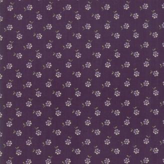 Tissu patchwork petites fleurs violettes fond violet - Sweet violet de Jan Patek