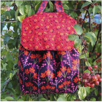 Kit de couture Odile Bailloeul - Sac à dos Seringa Prune