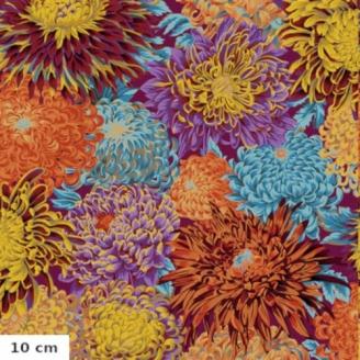 Tissu Kaffe Fassett chrysanthèmes japonais Automne PJ041