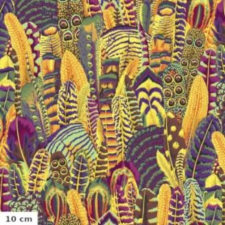 Tissu Philip Jacobs plumes gold PJ055