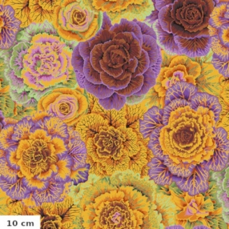 Tissu Philip Jacobs choux brassica orange PJ051
