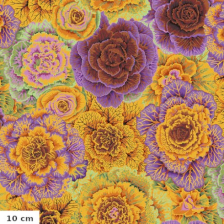Tissu Philip Jacobs choux brassica orange PJ051