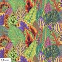 Tissu Philip Jacobs feuilles de Coleus PJ030 Gold (vert clair)