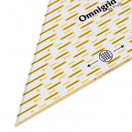 Règle patchwork triangle à 90° pour 1/4 carrés