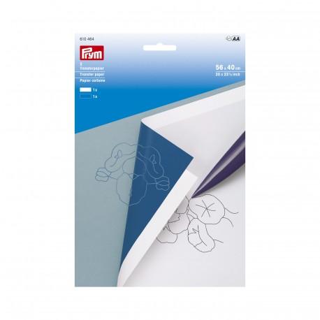 Papier carbone blanc et bleu pour tissus de Prym