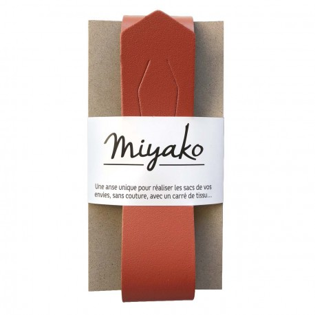 Anse de sac en cuir Miyako - Terracotta