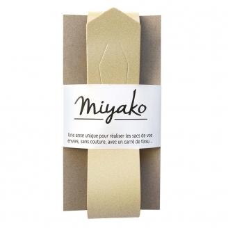 Anse de sac en cuir Miyako - Or