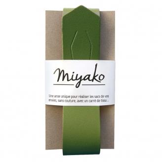 Anse de sac en cuir Miyako - Olive