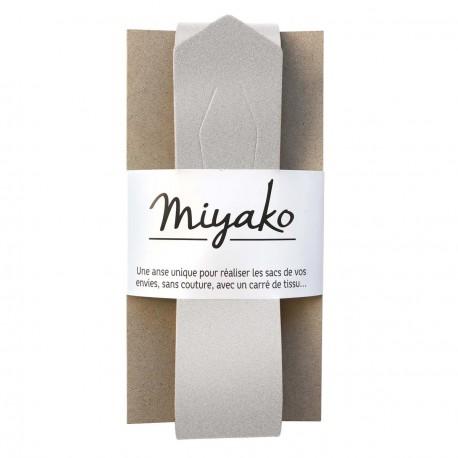 Anse de sac en cuir Miyako - Argent