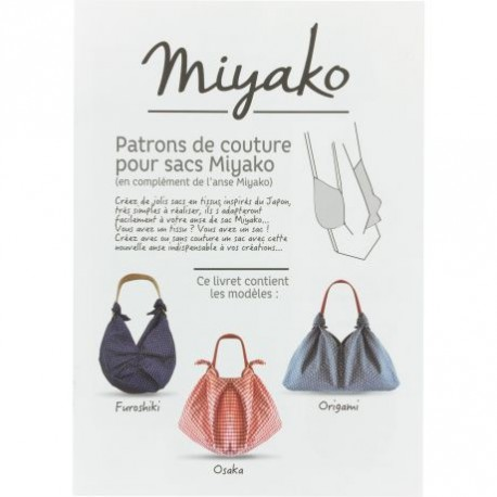 Patrons de couture de 3 sacs Miyako