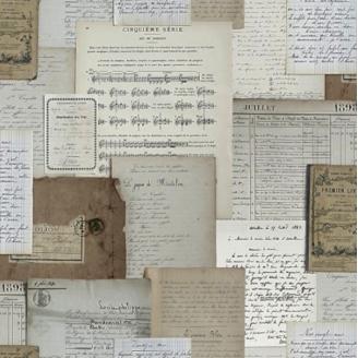 Tissu Odile Bailloeul Manuscrits anciens Isabelle Schwartz