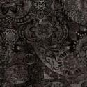 Tissu patchwork faux-uni Mandala noir Vol de nuit - Bohemian Rhapsody