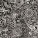 Tissu patchwork faux-uni Mandala gris moyen - Bohemian Rhapsody