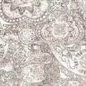 Tissu patchwork faux-uni Mandala gris clair - Bohemian Rhapsody