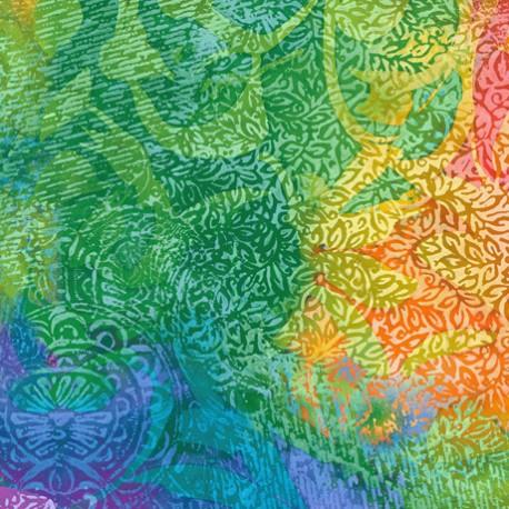Tissu patchwork motif abstrait multicolore - Mirage