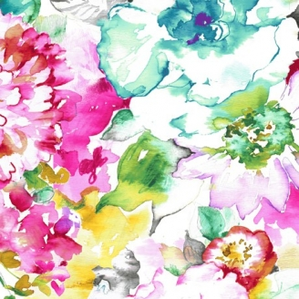 Tissu patchwork aquarelle florale - Annabelle