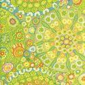Tissu patchwork Kaffe Fassett Millefiore GP92 vert
