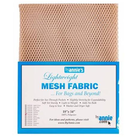 Tissu mesh (tissu filet) by Annie - Ecru Naturel