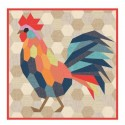 The Rooster (le coq) - Modèle de patchwork_