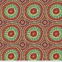 Tissu grande largeur Kaffe Fassett fruit Mandala rouge GP0032