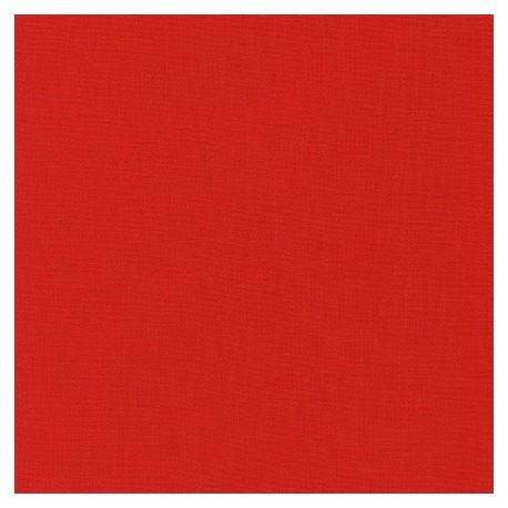 Tissu patchwork uni de Kona - Rouge Lipstick