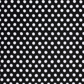 Tissu Kaffe Fassett pois blanc fond noir (Spot)