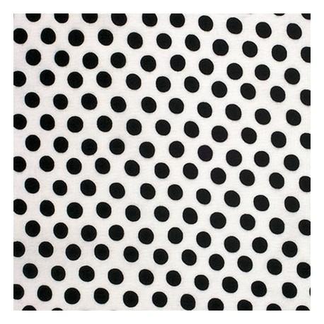 Tissu Kaffe Fassett pois noir fond blanc (Spot)