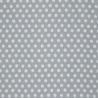 Tissu Kaffe Fassett pois blanc fond gris argent (Spot)