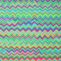 Tissu patchwork Motif zig zag vert Aqua