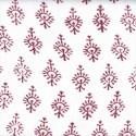 Voile de coton indien - motif cachemire bordeaux fond écru