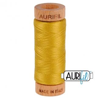 Fil de coton Mako 80 Aurifil - Moutarde 5022