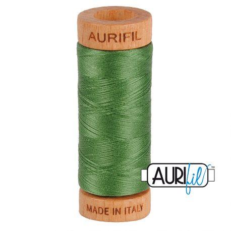 Fil de coton Mako 80 Aurifil - Vert prairie 2890