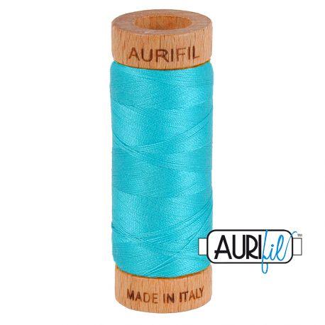 Fil de coton Mako 80 Aurifil - Turquoise 2810