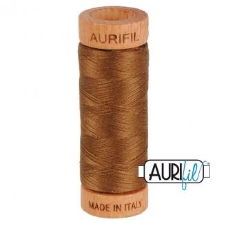 Fil de coton Mako 80 Aurifil - Brun 2372