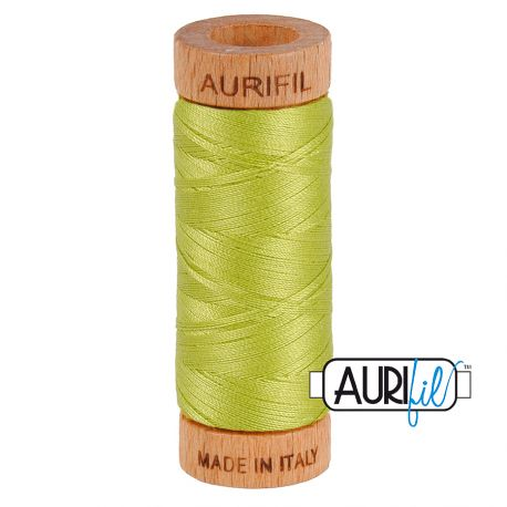Fil de coton Mako 80 Aurifil - Vert printemps 1231