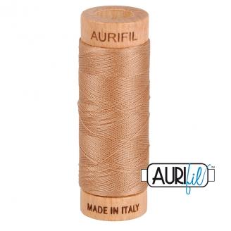 Fil de coton Mako 80 Aurifil - Café au lait 2340