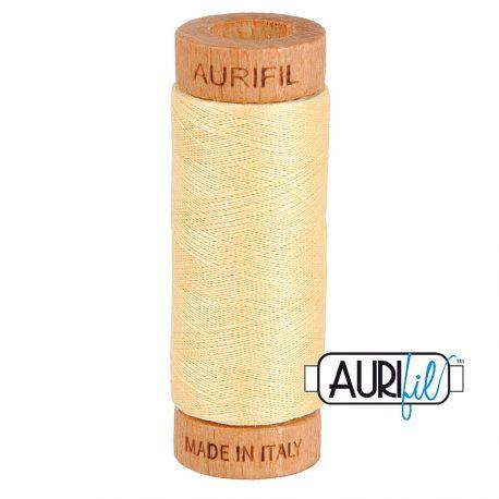 Fil de coton Mako 80 Aurifil - Champagne 2105