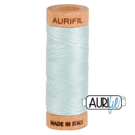 Fil de coton Mako 80 Aurifil - Gris clair bleuté 5007