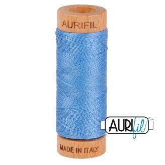 Fil de coton Mako 80 Aurifil - Bleu porcelaine 2725
